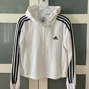 Essential 3 stripes cropped sweater ADIDAS